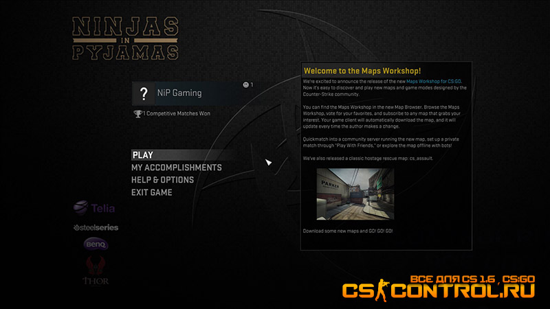 Тема [CS:GO] NiP Official GUI V.1.0.0