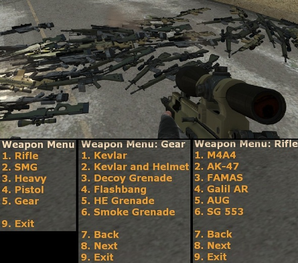 Плагин для CS:GO Weapon Menu [оружейка для админа]
