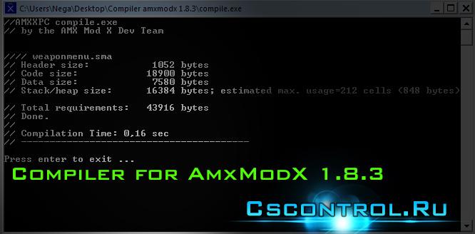 AMXMODX 1.8.2 TÉLÉCHARGER