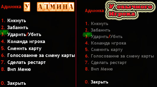 Плагин AmxModMenu by Man1ak*