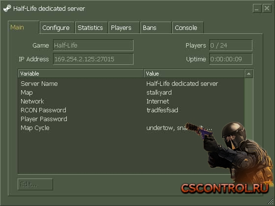Half-life dedicated server download (hlds. Exe).