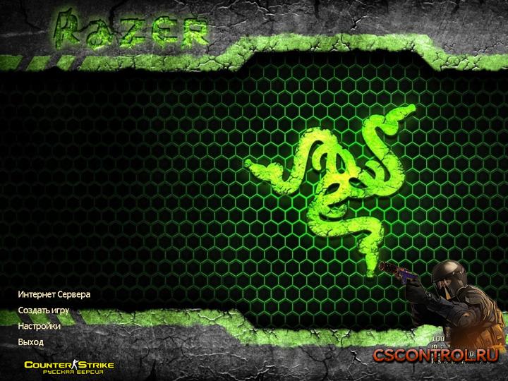 Тема Razer для Counter-Strike 1.6