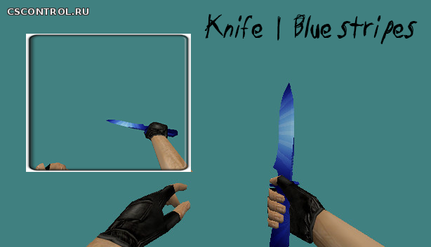 Knife | Blue stripes | by solo